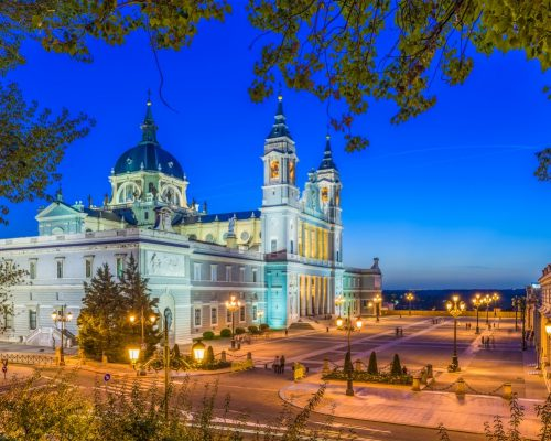 Madrid, Spain at Almudena Cathedral.