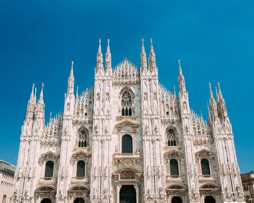 Milan Cathedral or Duomo di Milano is the cathedral church. famous landmark of Milan, Italy