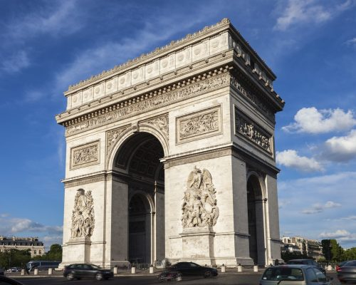 Arc de Triomphe in Paris. Paris, France.