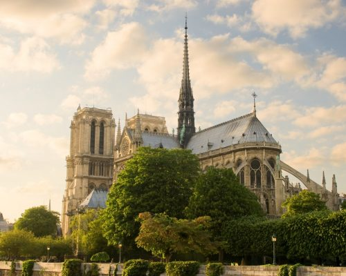 Notre Dame de Paris before sunset