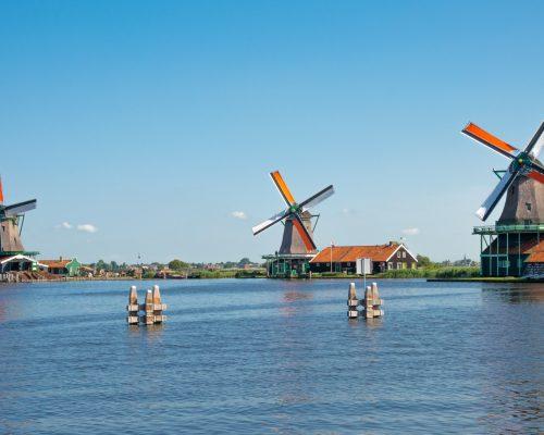 Windmill in Zaanse Schans Amsterdam The Netherland